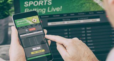 Man gambling online.