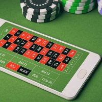 A phone with a gambling app open to an online game